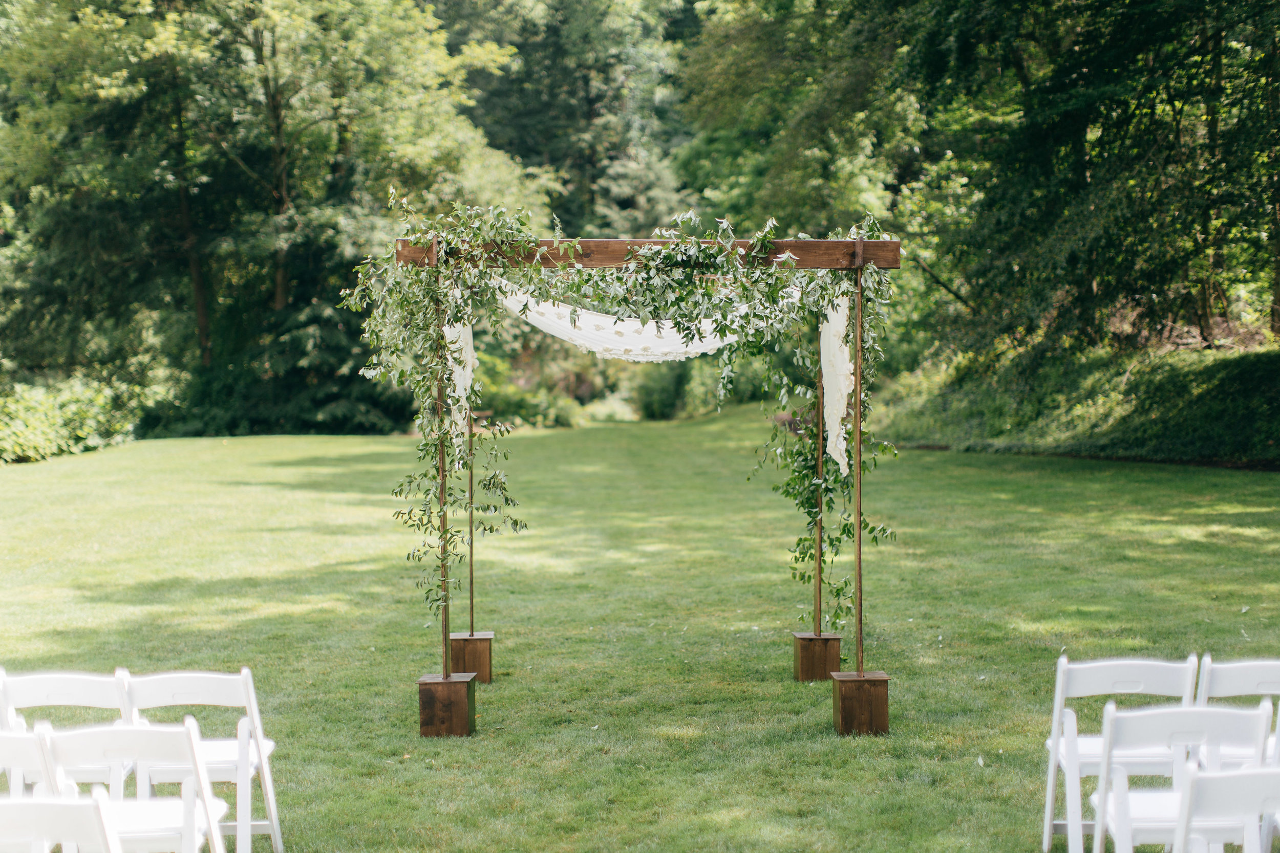 The Club at Hillbrook wedding ceremony lawn