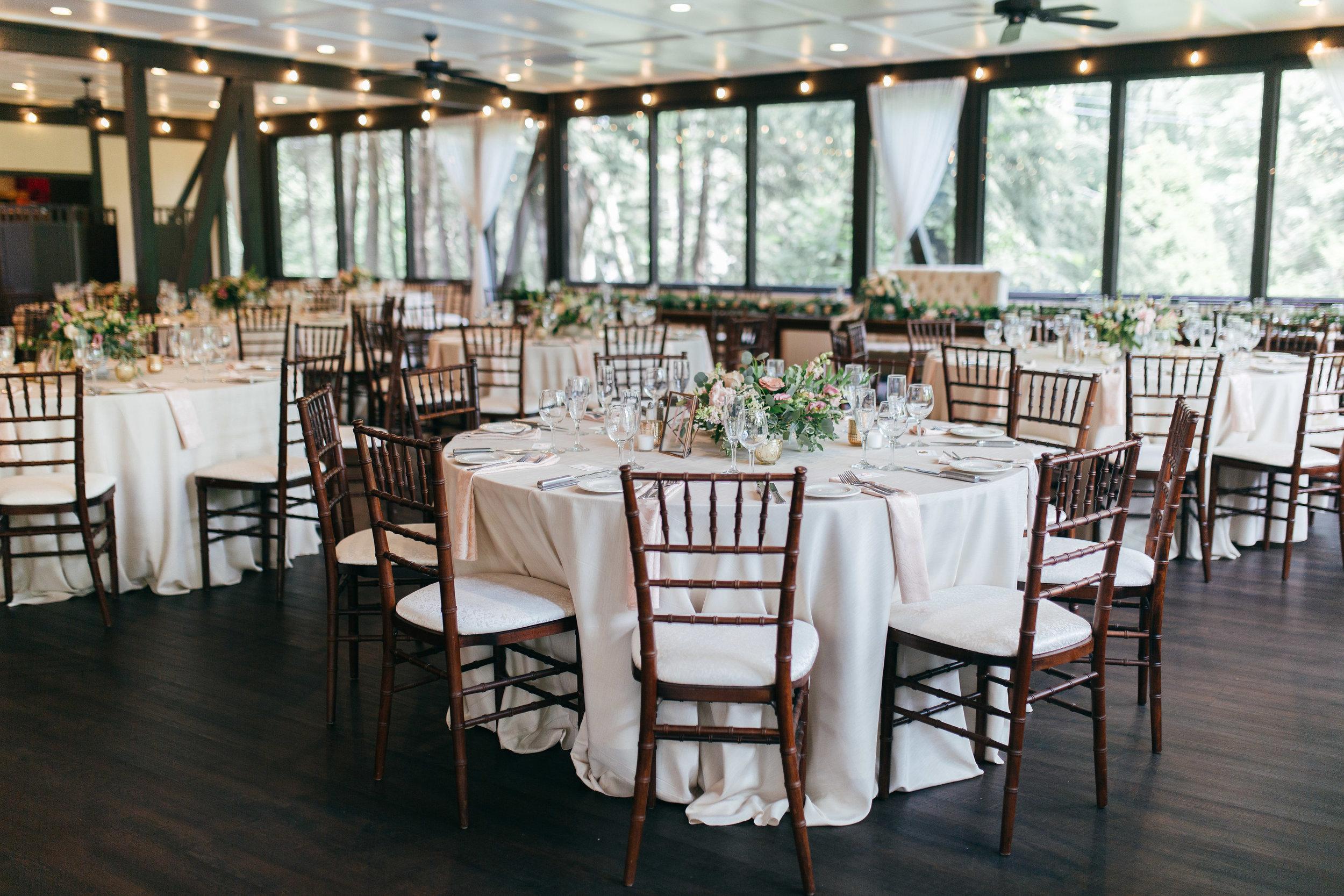 The Club at Hillbrook wedding reception