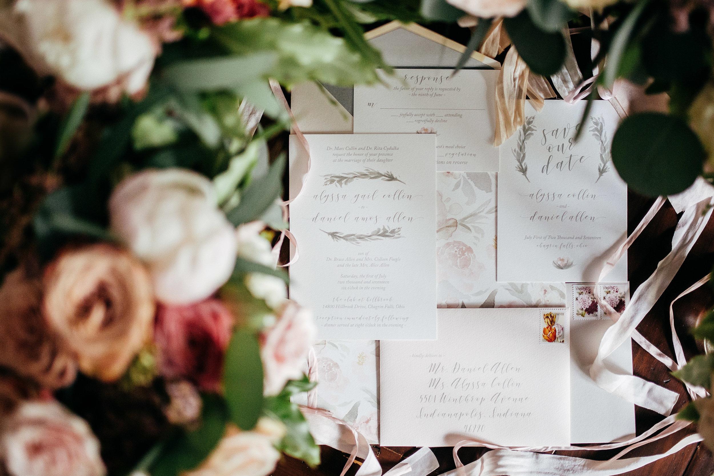 Wedding invitation by Baci Designer