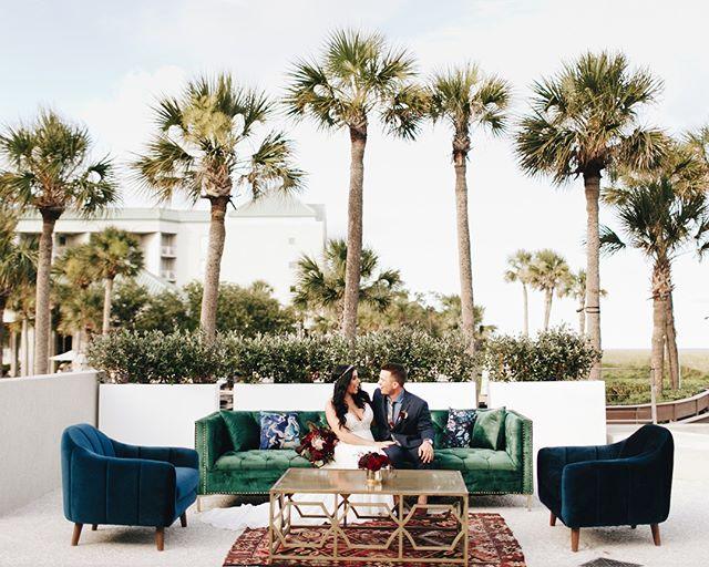 We absolutely adore working in and around northeast Ohio, but when a couple asks us to plan their summertime destination wedding in Hilton Head, South Carolina, we pack our bags and hit the beach! 🌴  See more of Kelly + Tyler's beautiful boho beach wedding on our blog!  . . . Photo: @photographyanthology Lounge Furniture: @oohevents . . . #weddinginspiration #weddingdesign #ecofriendly #ecofriendlywedding #beinspired #theknot #knotohio #weddingideas #weddinggdecor #brideportrait #bride #bridestyle #instabride #realbride #downtoearthbride #bohobride #bridebeauty #bridalhair #weddinghairstyle #bridemakeup #bridalbeauty #bridalidea #destinationweddingplanner #carolinawedding #hiltonheadwedding #hiltonheadisland