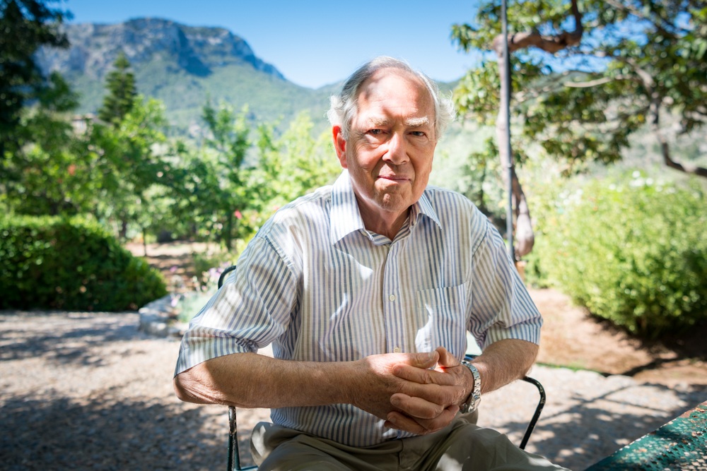 William Graves, son of poet Robert Graves, at the family home of Canellún in the Majorcan village of Deià
