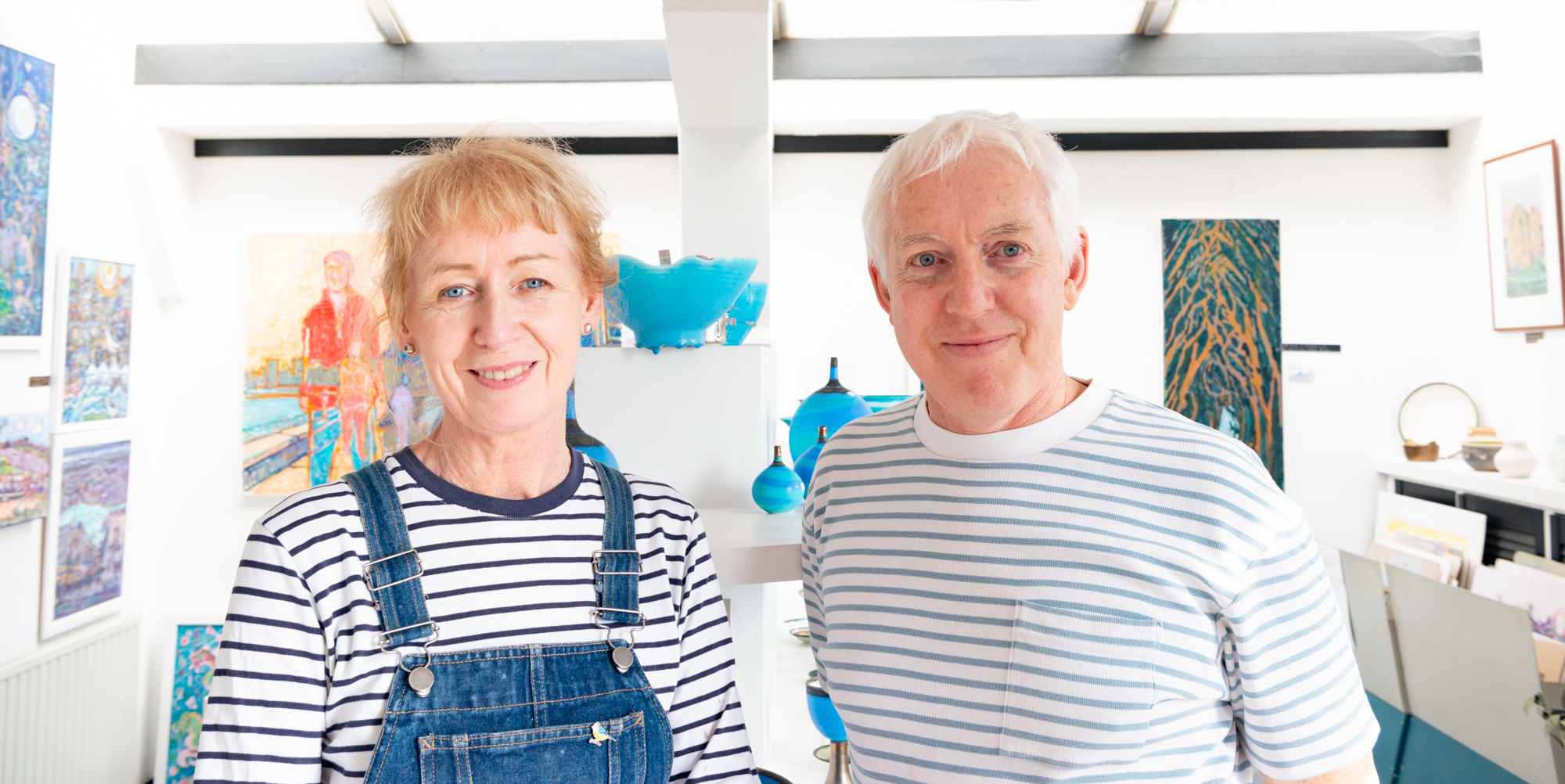 Julie O'Sullivan and Richard Baxter, ceramicists at Old Leigh Studios