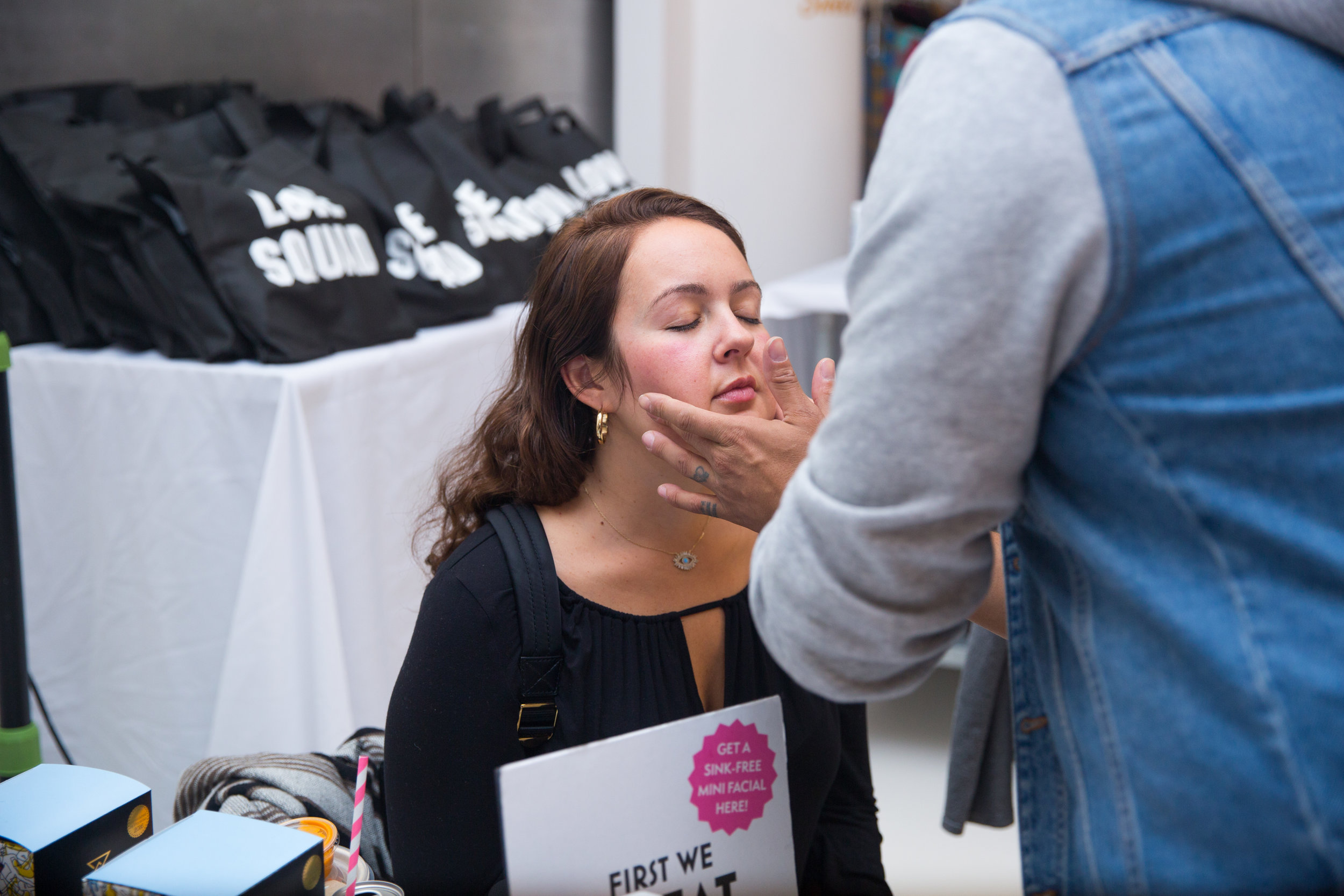 Attendees took advantage of our facial station provided by  Ducalm , a company specializing in post-workout skincare.