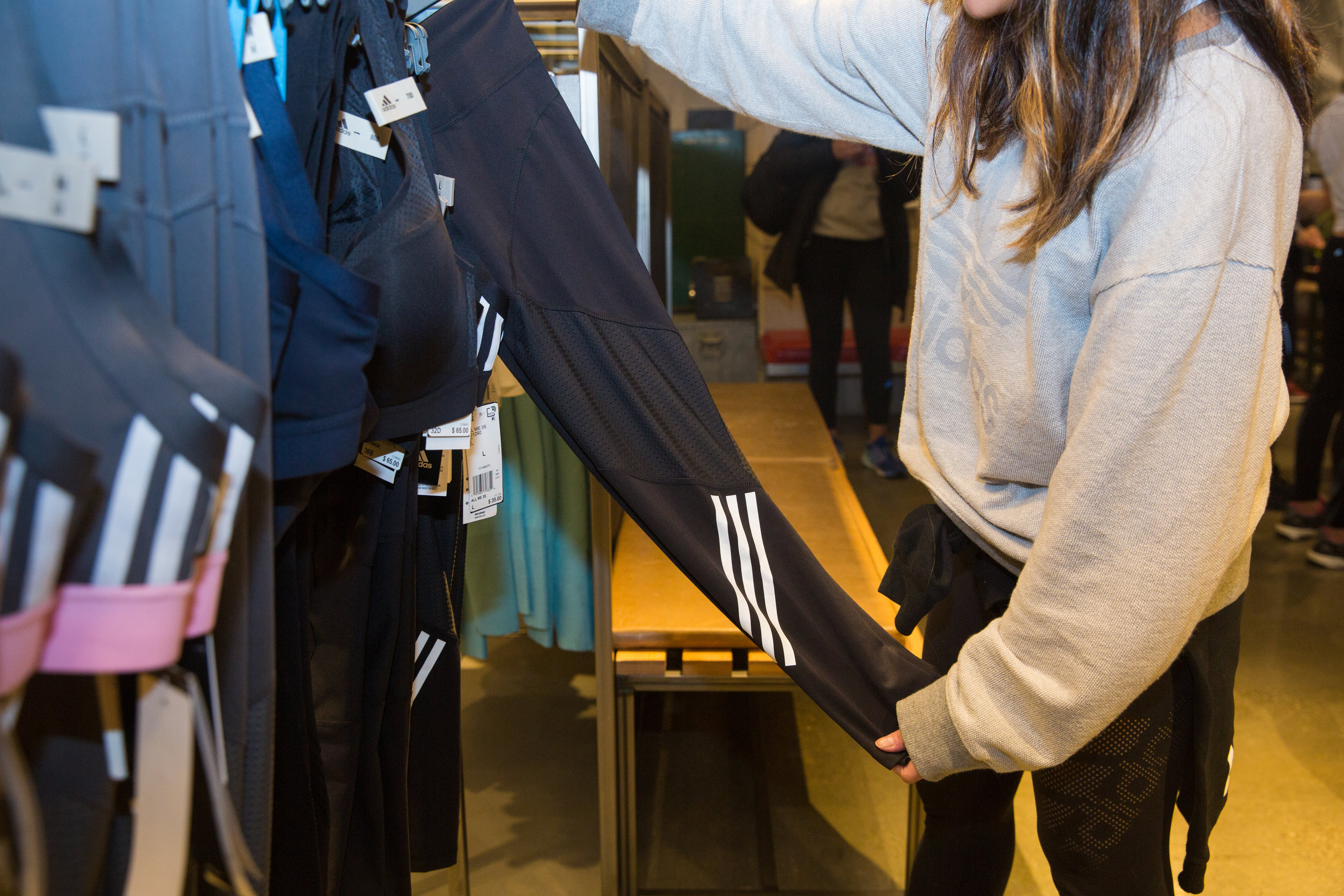 Attendees got a peek at the newly released Adidas collection. Everyone received a 30 percent in-store discount as well.