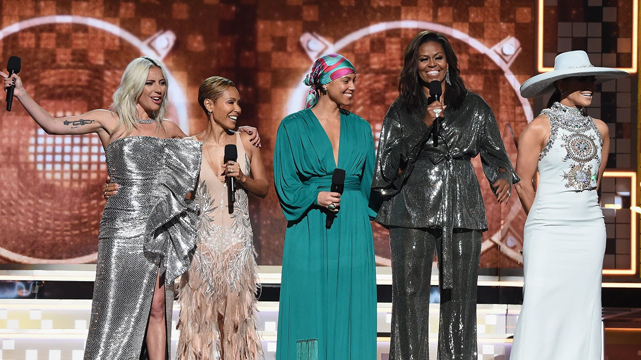 Lady Gaga, Jada Pinkett Smith, Alicia Keys, Michelle Obama and Jennifer Lopez discuss the power of women and music at the 2019 Grammy Awards.