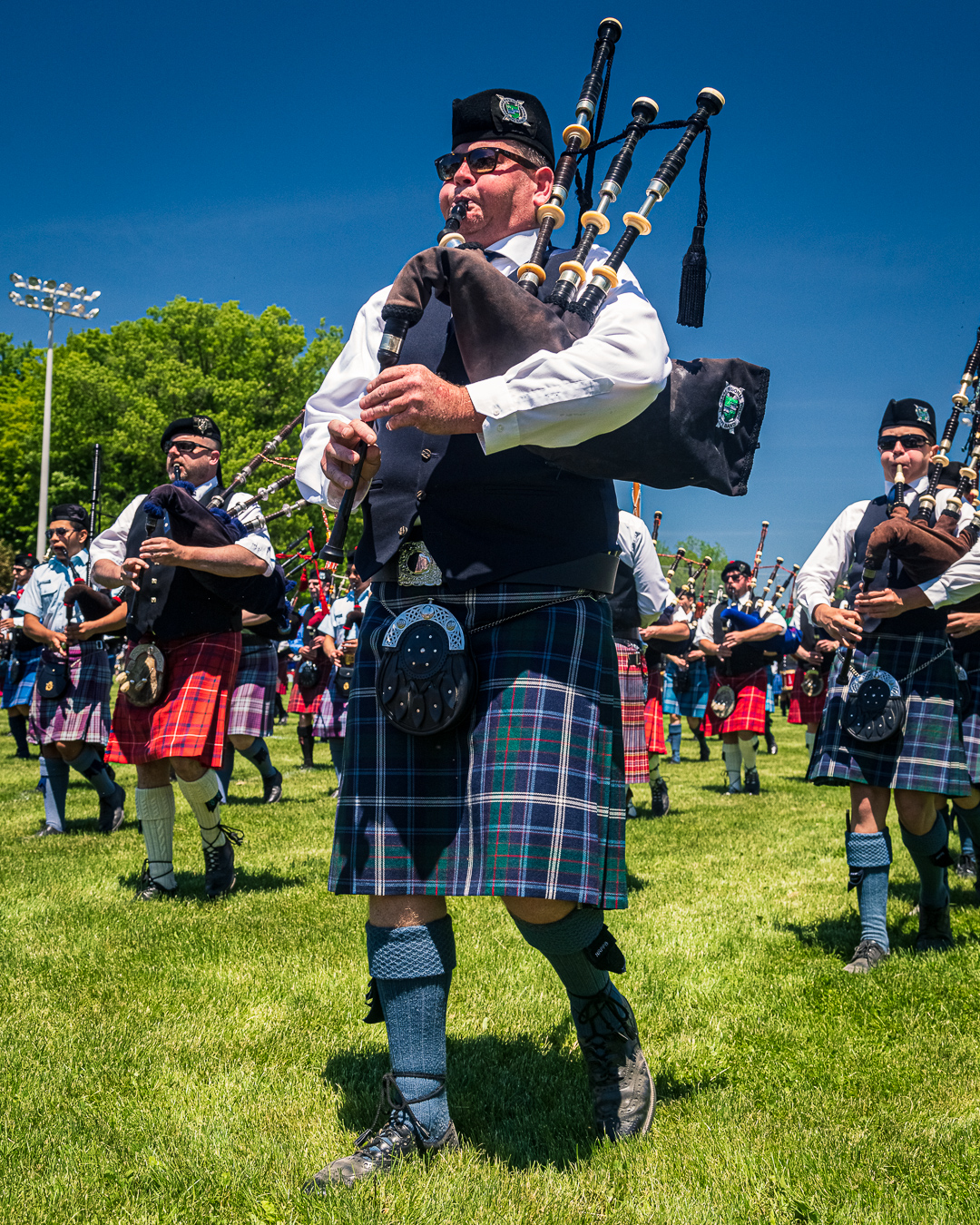 Georgetown Highland Games - Massed Bands