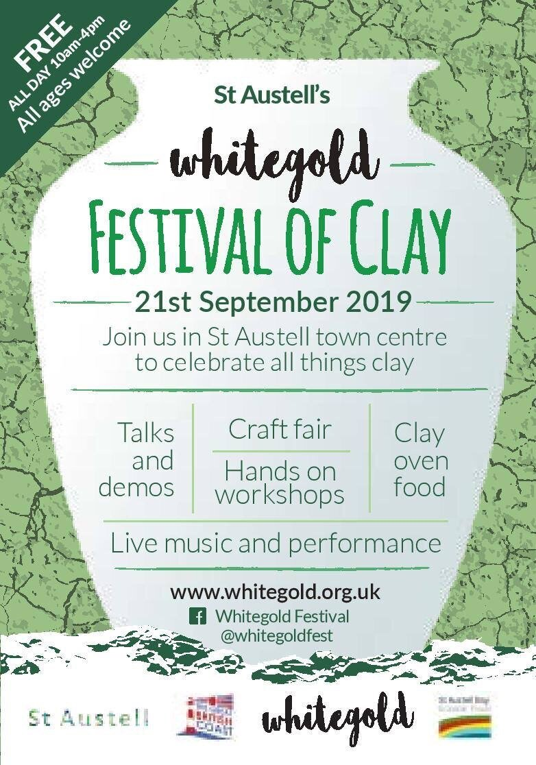 Whitegold Festival of Clay - Find me on Stand 15 in White River Place.