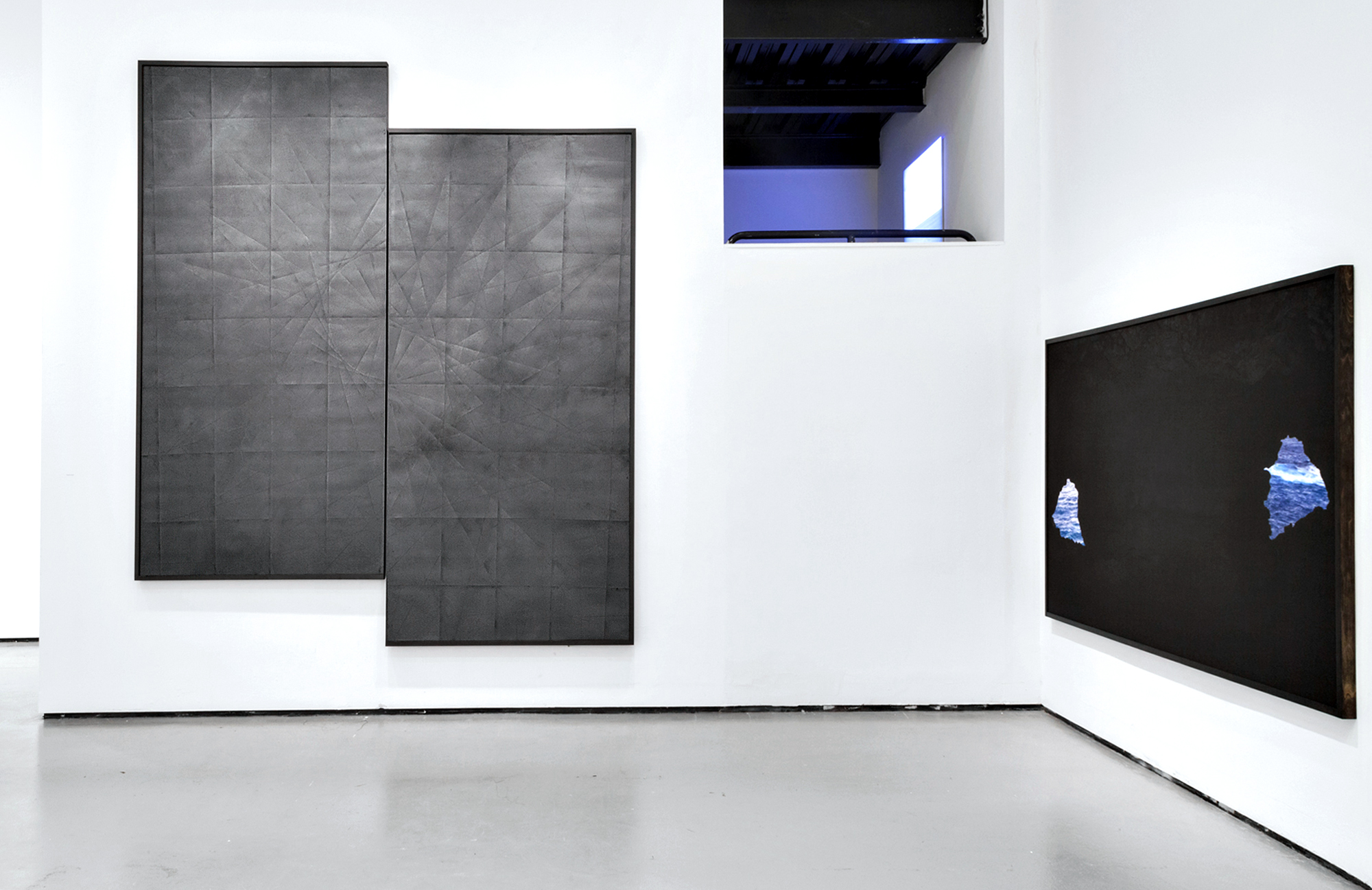 Installation view of 27.1167°S, 109.3667°W