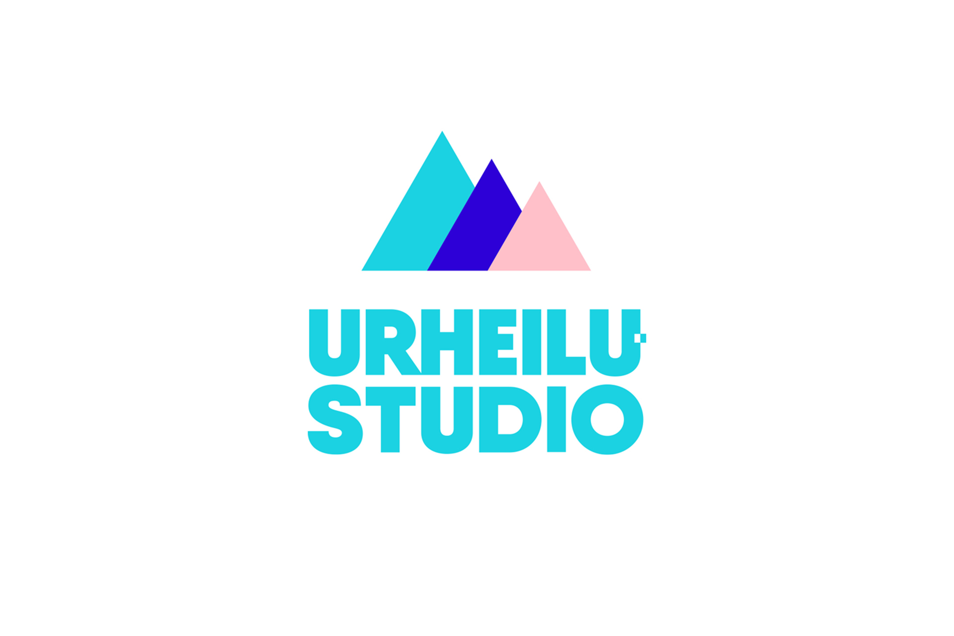 Urheilustudio logo with icon, 3-color