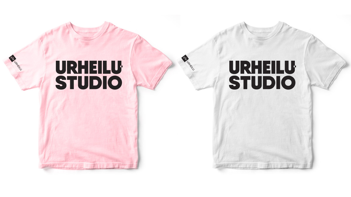 Branding for Yle Urheilustudio. T-shirt layout.