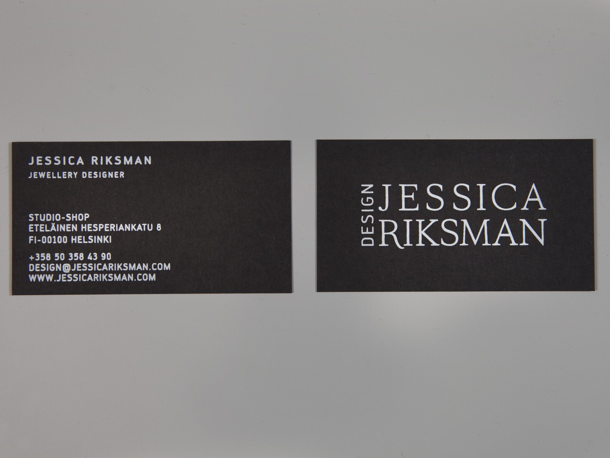 Silk screen printed business card