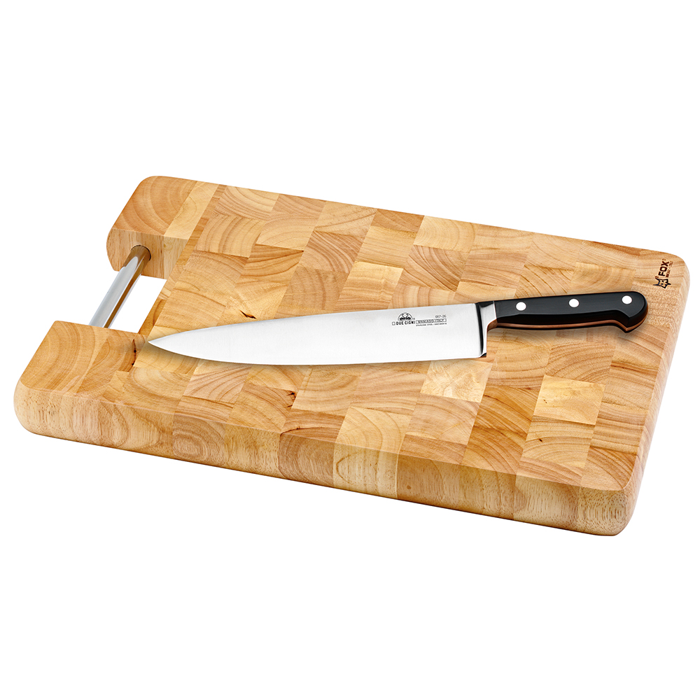 "450mm Multifunctional Cutting Board - Handsome chopping block relies on traditional butcher-block end-grain construction to withstand heavy daily use. The 1.57""-thick block makes a beautiful, enduring addition to the kitchen.Dimensions : 45 x 31,5 x 4 cm"