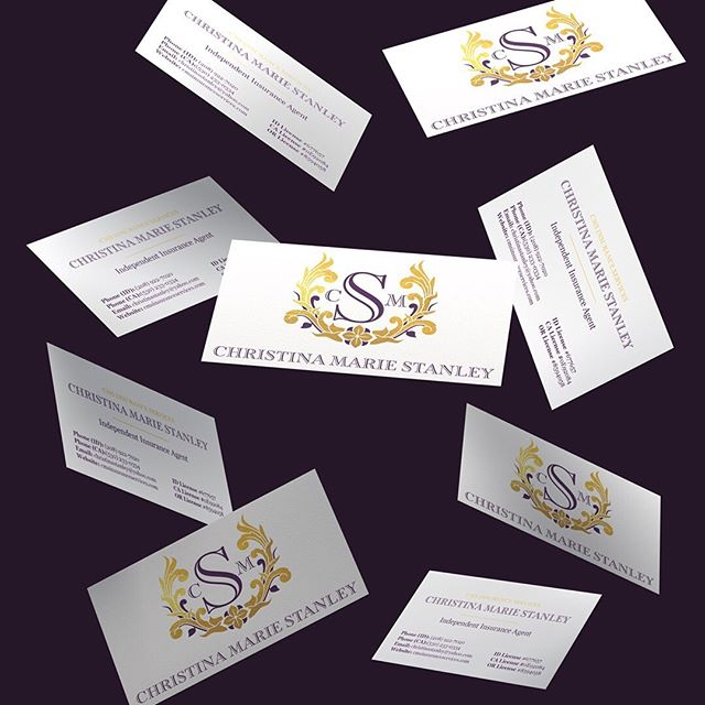 Business cards. . . love 'em or hate 'em? . I really am a sucker for a quality business card design, and I get so excited when my clients tell me that I have complete control of the design...hello gold leaf and spot UV! . I designed these cards for my client Christina. She is an independent insurance agent, one of my very first local clients, and believe it or not she does actually use her business cards ALL. THE. TIME. . Christina came to me early this year with a brand that felt outdated, and was dealing with a bit of a disconnect from the look of her printed materials to the look of her website. Together we were able to give her one unified and timeless brand that she is excited to share with her clients, and will serve her well for years to come . Click the link in my bio to learn more about my complete branding and web design services! . . #logodesign #branddesign #branding #onlinebusiness #smallbizlife #mycreativebiz #risingtidesociety  #communityovercompetition #creativepreneur #creativeentrepreneur #tnchustler #calledtobecreative #theeverygirl #creativelifehappylife #solopreneur #girlboss #entrepreneurlife #dreamjob #beyourownboss #successcoach #businesscoach #etsyseller #productbasedbusiness #servicebasedbusiness #femaleentrepreneur #savvybusinessowner #womeninbusiness #sidehustle #tnchustler