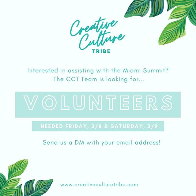 🗣 LAST CALL! We're looking for a handful of dope women to assist the CCT Team! 💥 We need extra hands to help us out on Friday, March 8th and Saturday, March 9th! Slide in our DMs if you're interested, and tag a friend who would love to volunteer! #ConnectToCreate 💃🏾