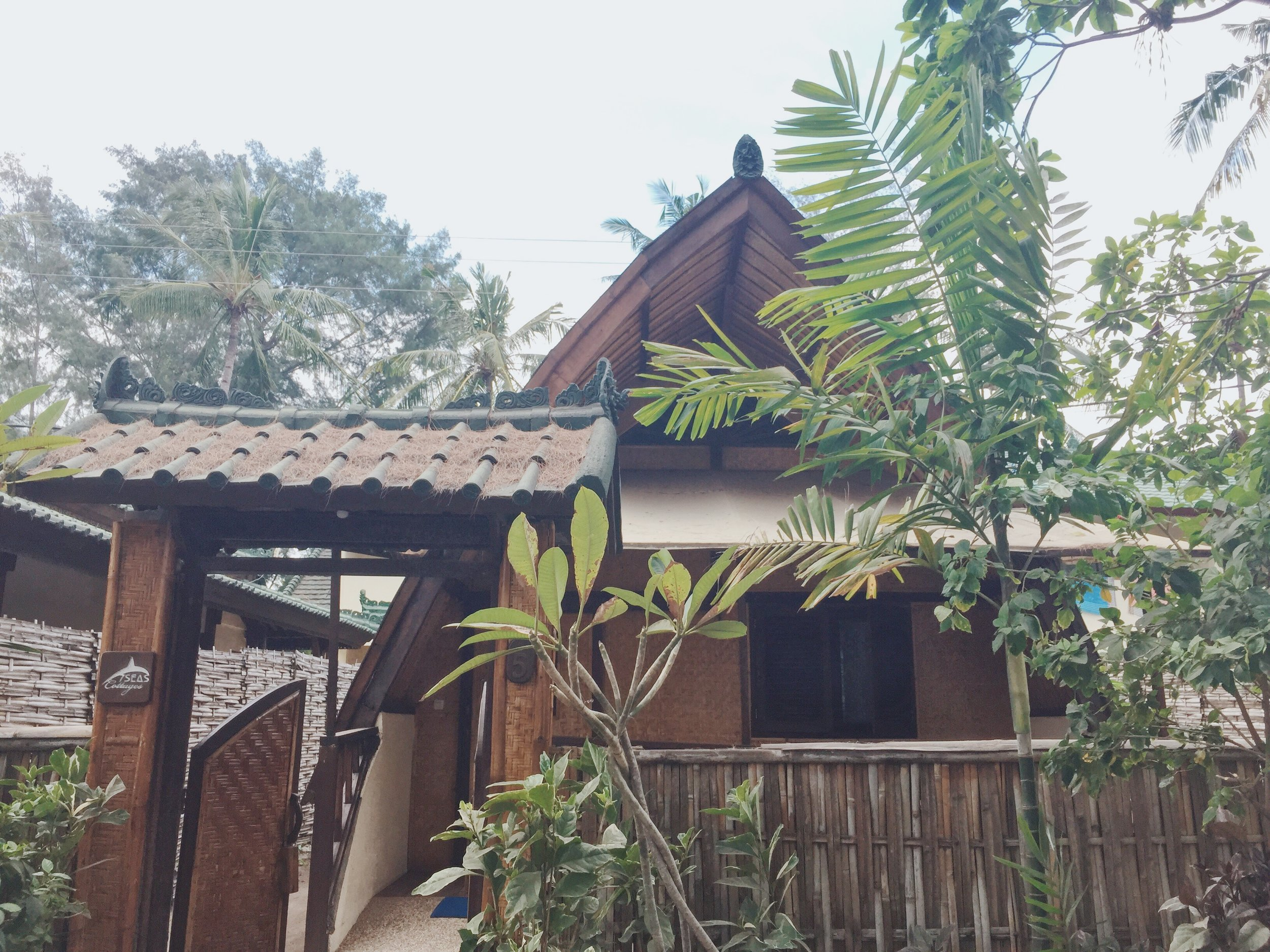 7 Seas Cottages Bungalow , standing few meters away from the beach.