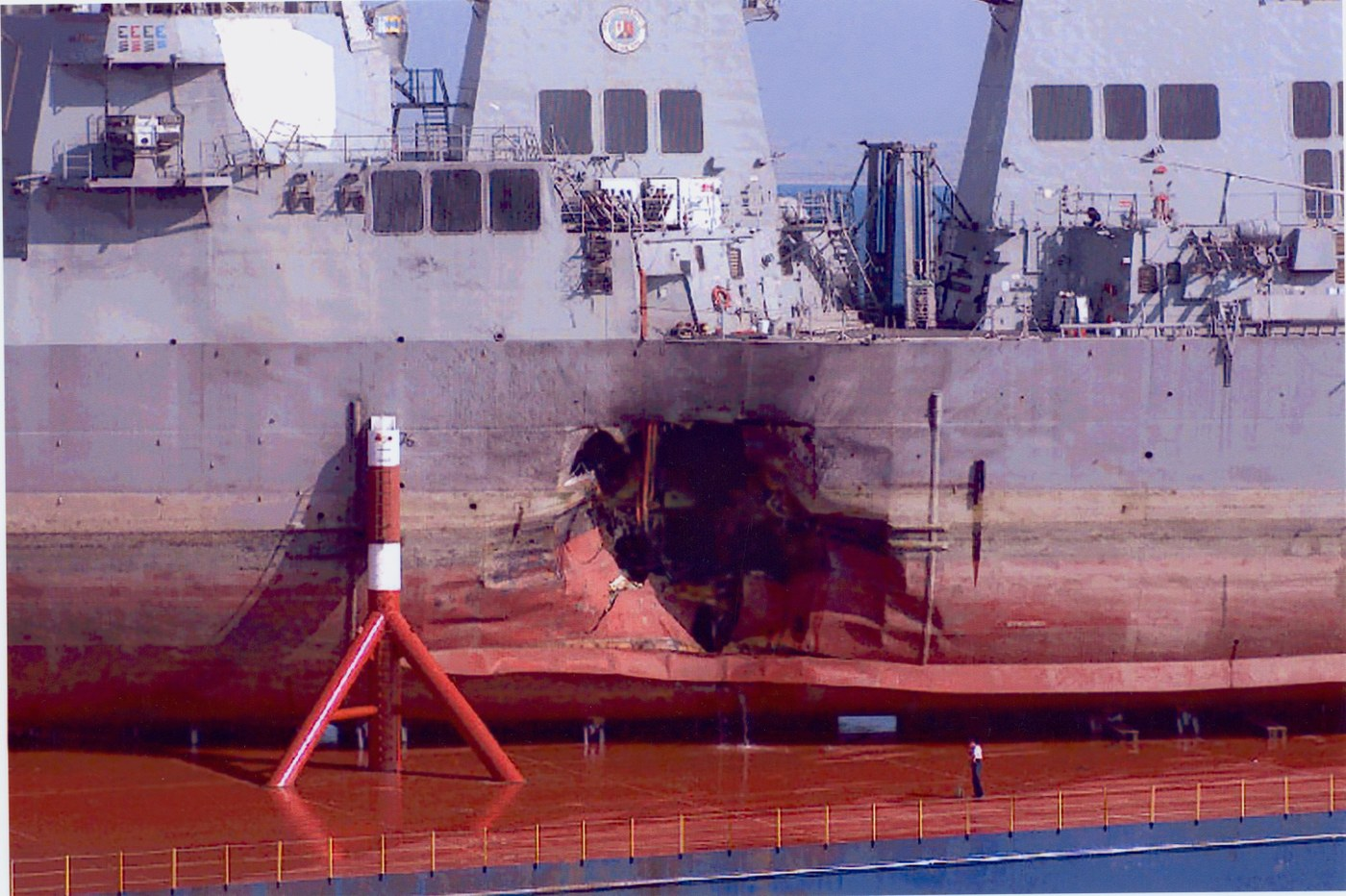 USS Cole was bombed in an attack against the  United States Navy  guided-missile destroyer  USS  Cole   on 12 October 2000.