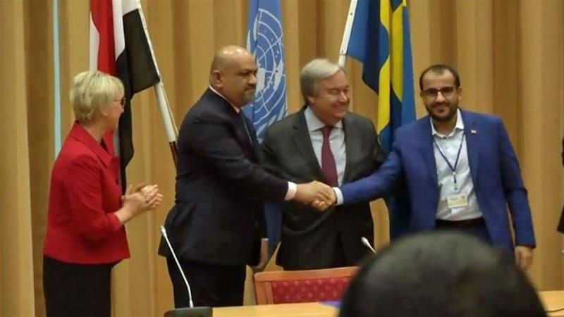 Yemen's warring parties agreed to a ceasefire in Hodeidah at end of peace talks in Sweden [Reuters]