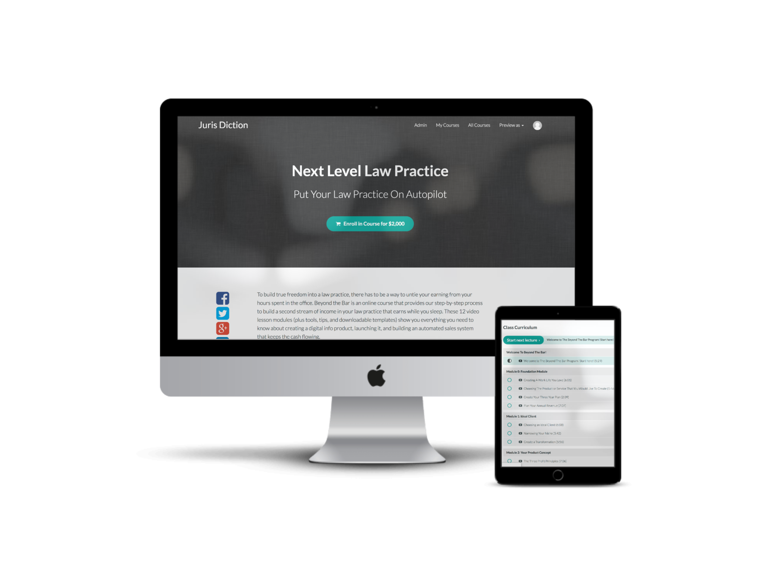 Next Level Law Practice - NLLP is all about creating a Sustainable Law Practice. We teach you how to create super systems that automate up to 80% of your practice, giving you more time to do the work you love. Nine video modules (including valuable workbooks, spreadsheets, and tools), create a streamlined practice that runs smoothly, efficiently, and — most importantly — profitably.