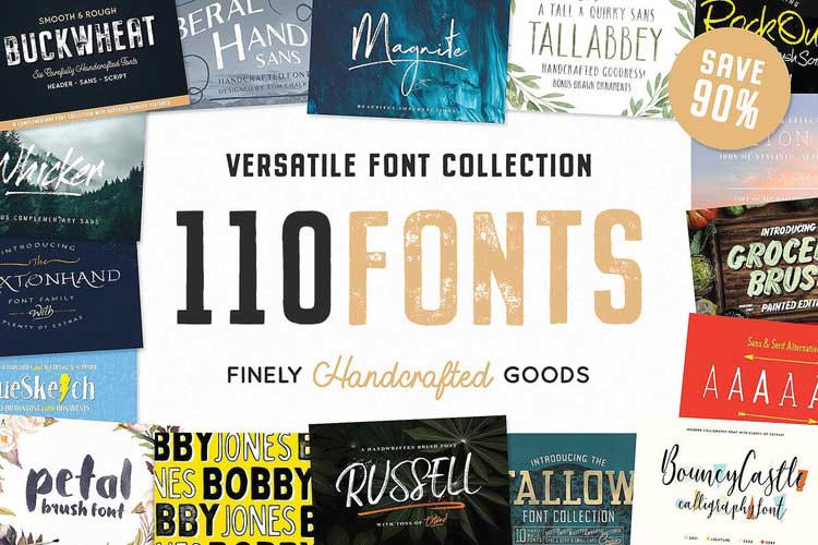 The Ultimate Hand Crafted Font Collection by Tom Chalky — Smash