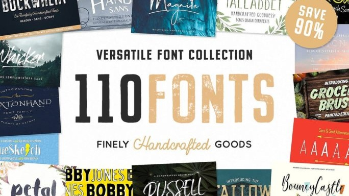 110 Fonts by Tom Chalky - CHECK IT OUT!