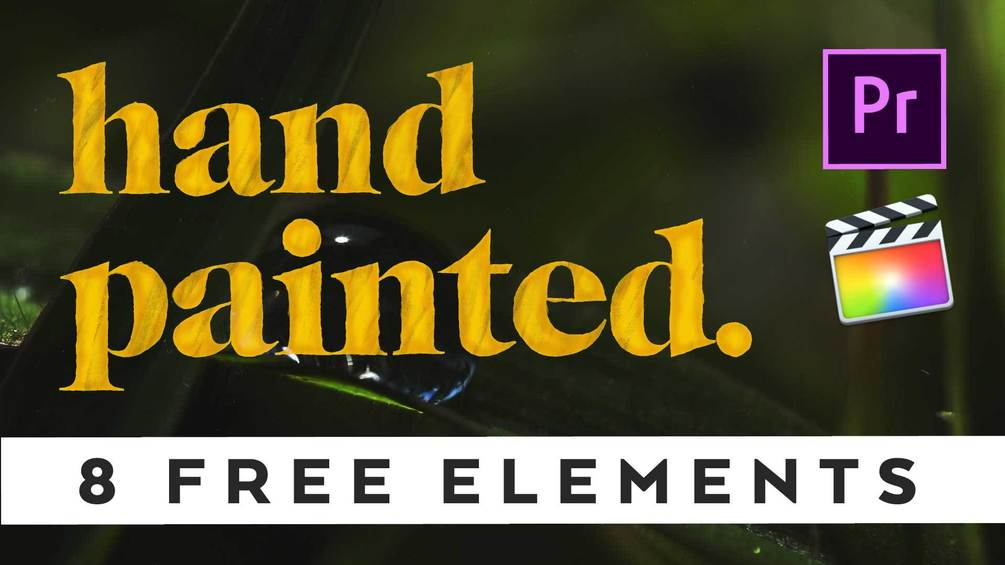 8 Hand Painted Elements