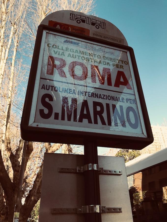 San Marino to Rome street sign for bus.jpg