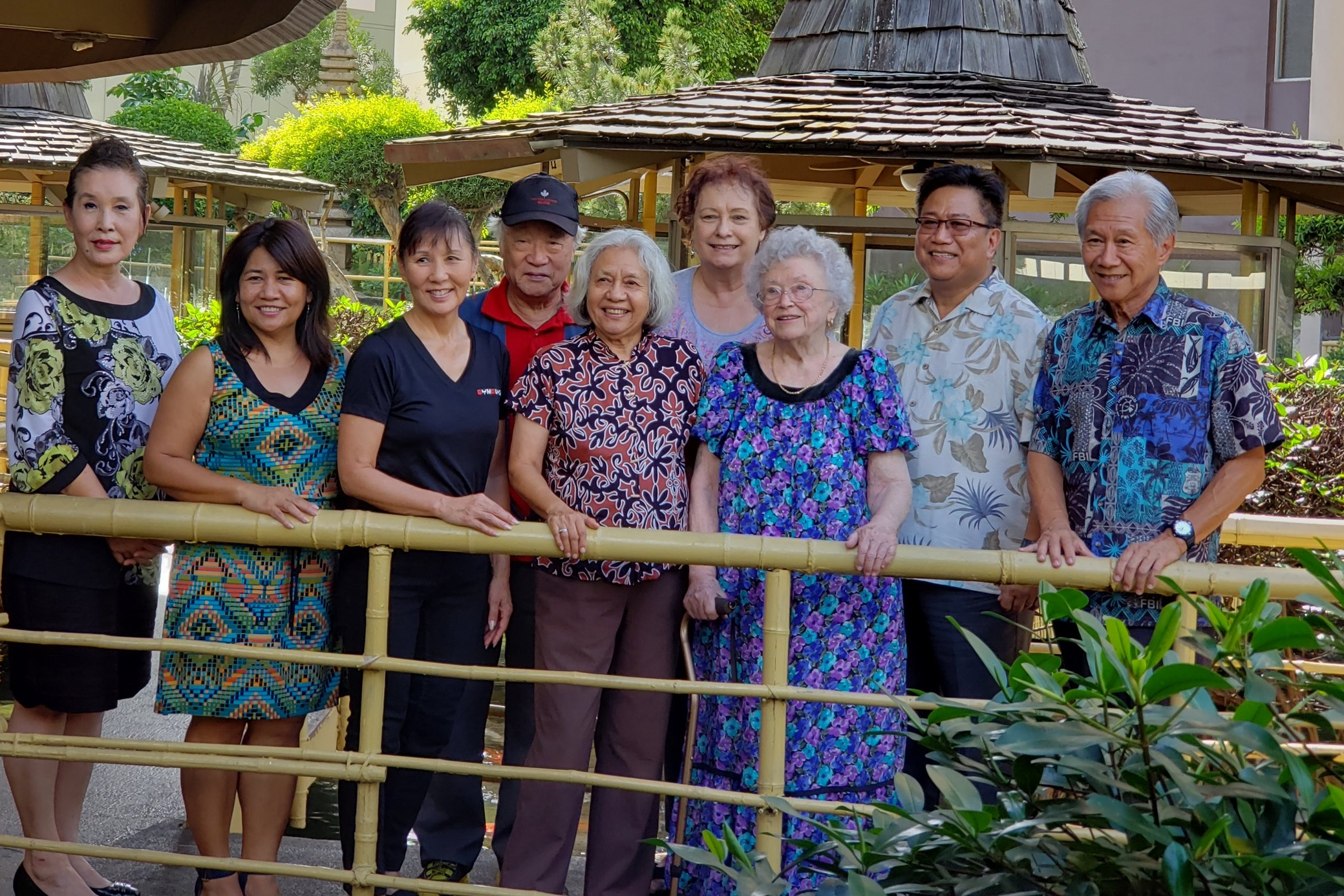 On November 25, 2018, Ethnic Education Hawai'i welcomed the following individuals to join its Board of Directors:  Amy Agbayani (middle), Joy Bounds (not pictured), Agnes Malate (second from left), Larry Ordonez (second from right), Myongsup Shin (wearing hat)