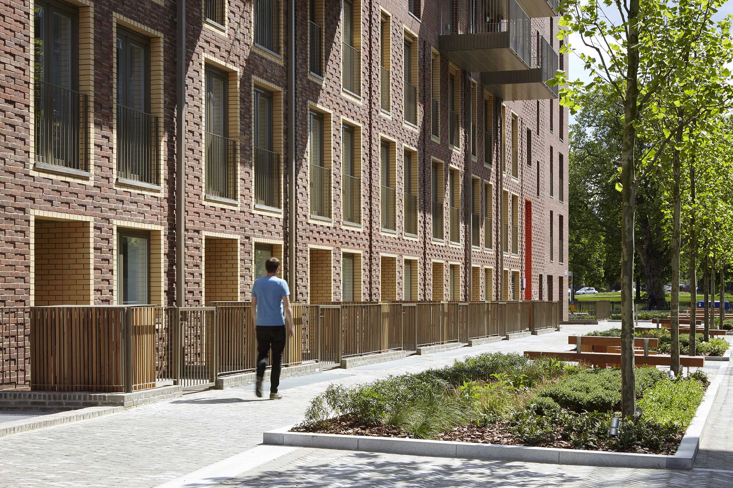 The estate at  Burridge Gardens  is now connected to surrounding green space, transport links and the local community; Photo ©Jack Hobhouse