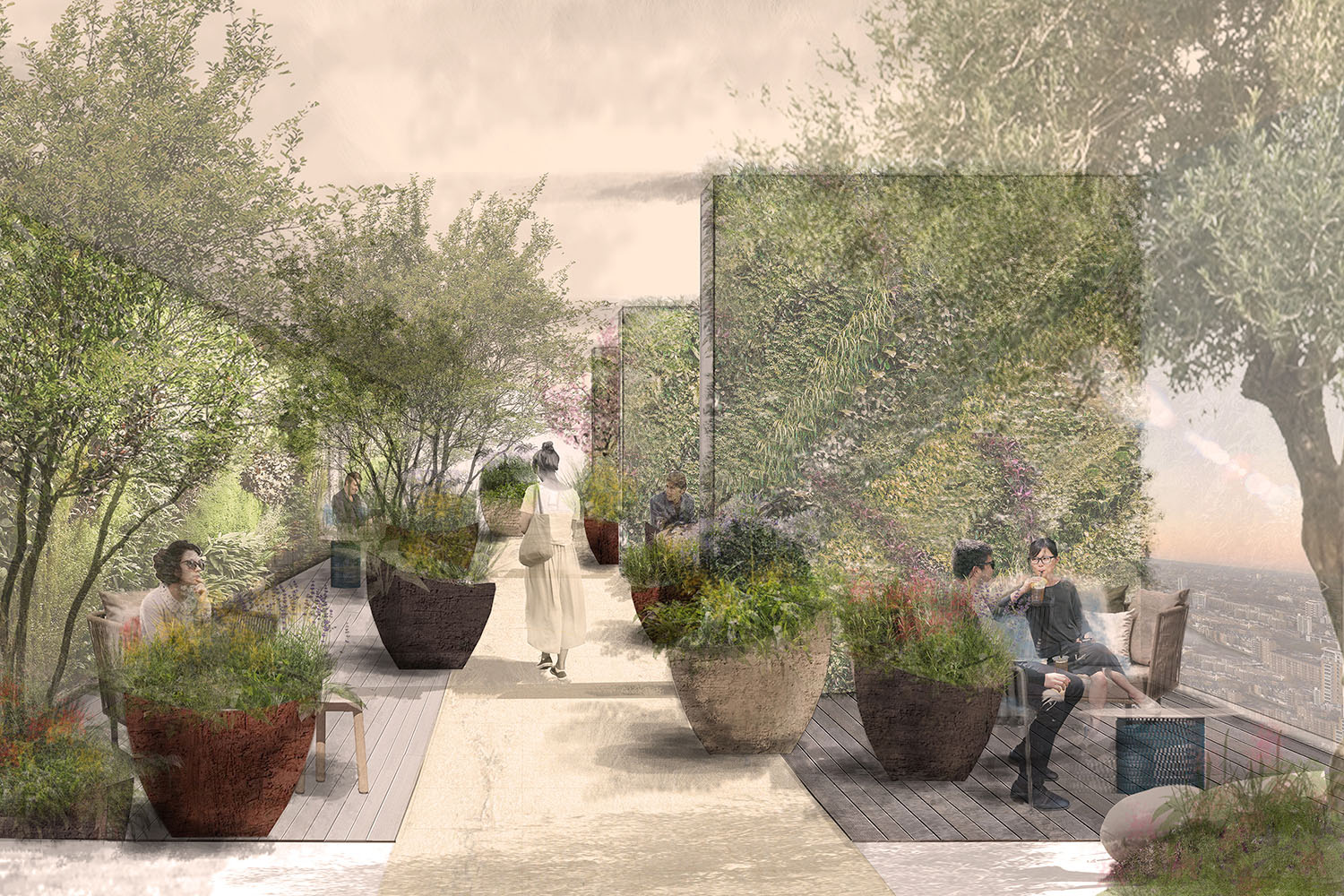 Garden proposal for Landmark Pinnacle.