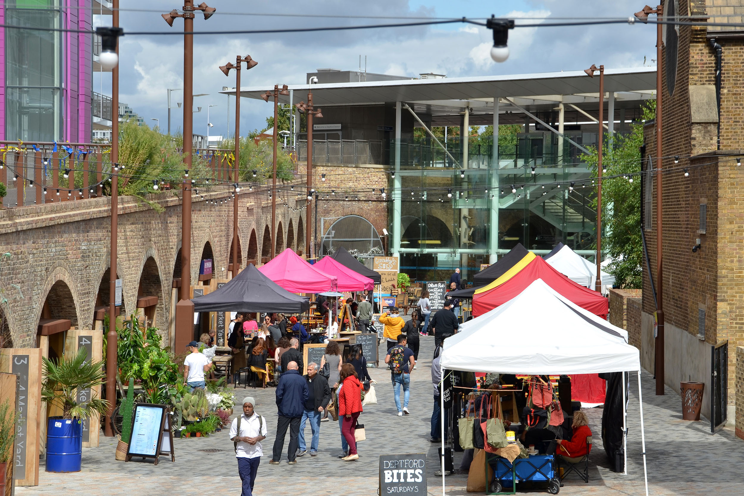 Market Day at  Deptford Market Yard .
