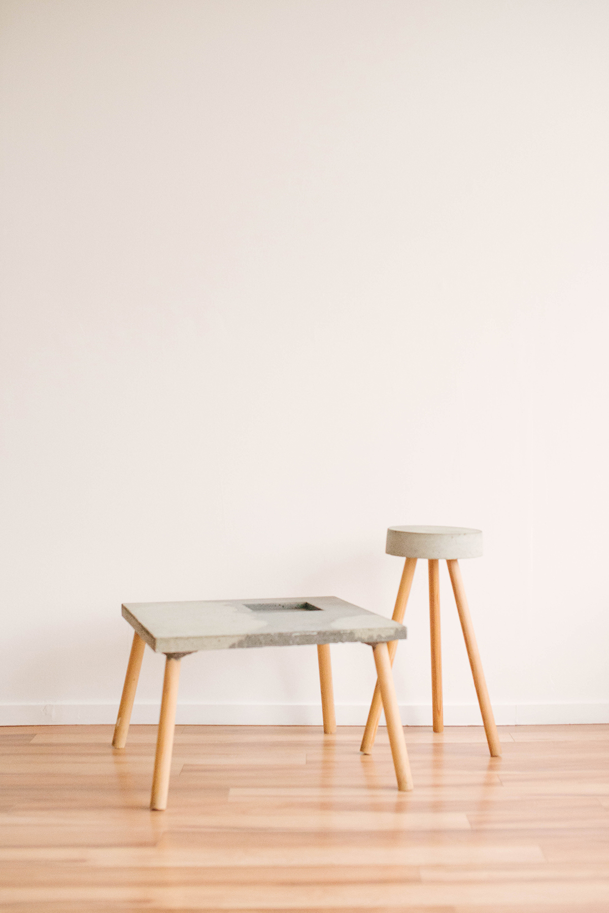 Concrete Table & Stool