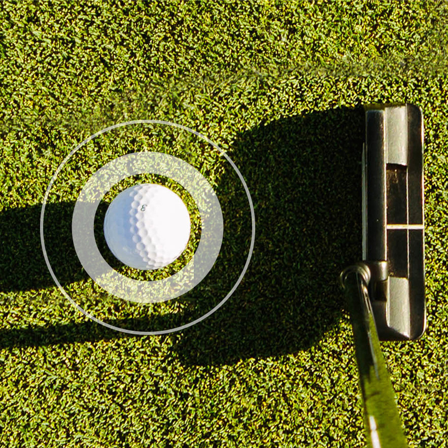 FOCUS ZONES identify key areas that are crucial to a great putt and encourages interaction to correct and automate.