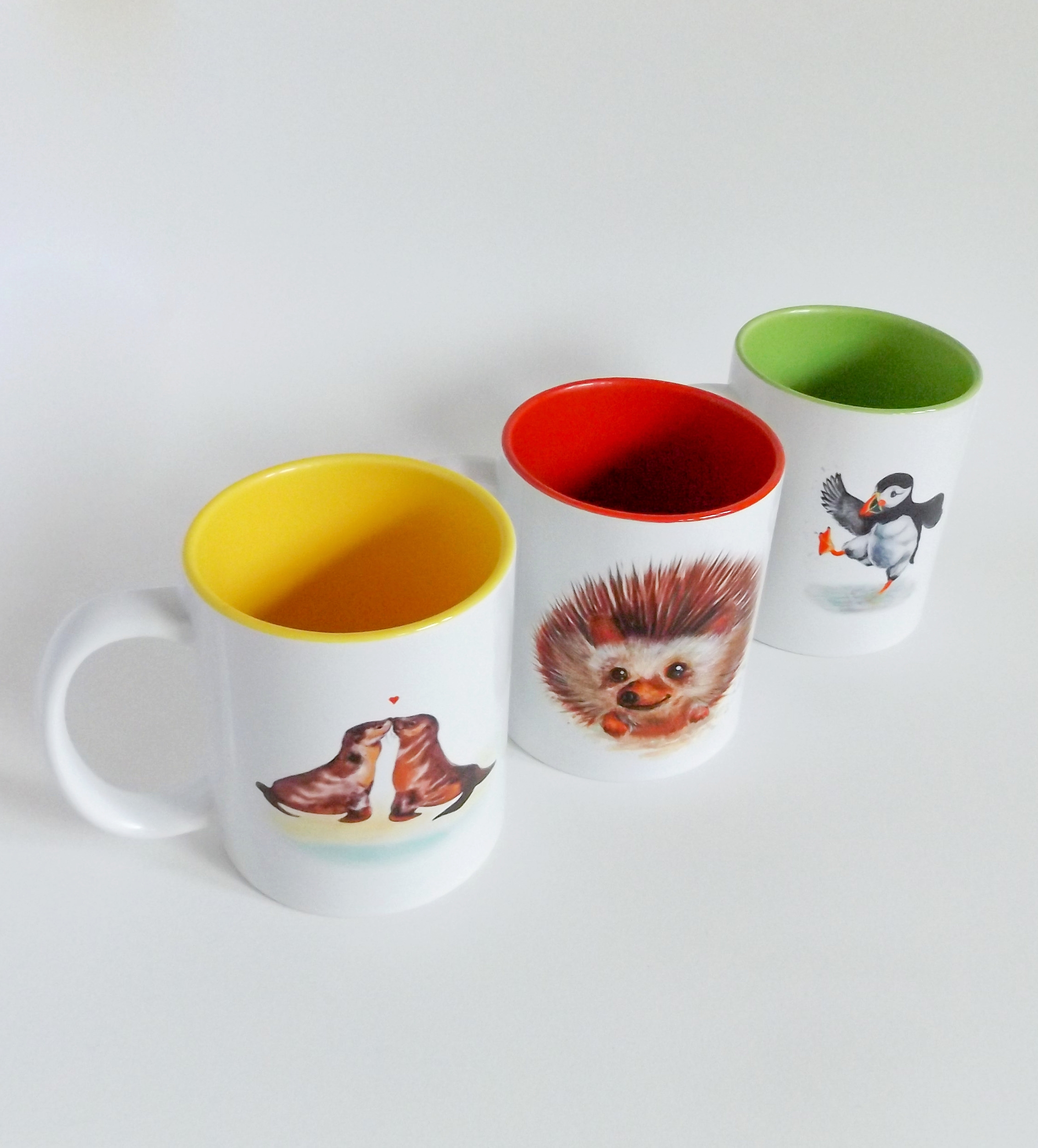 Puffin Prints mugs