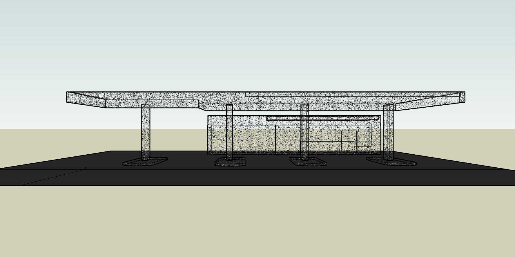 Transparent petrol station, 2018