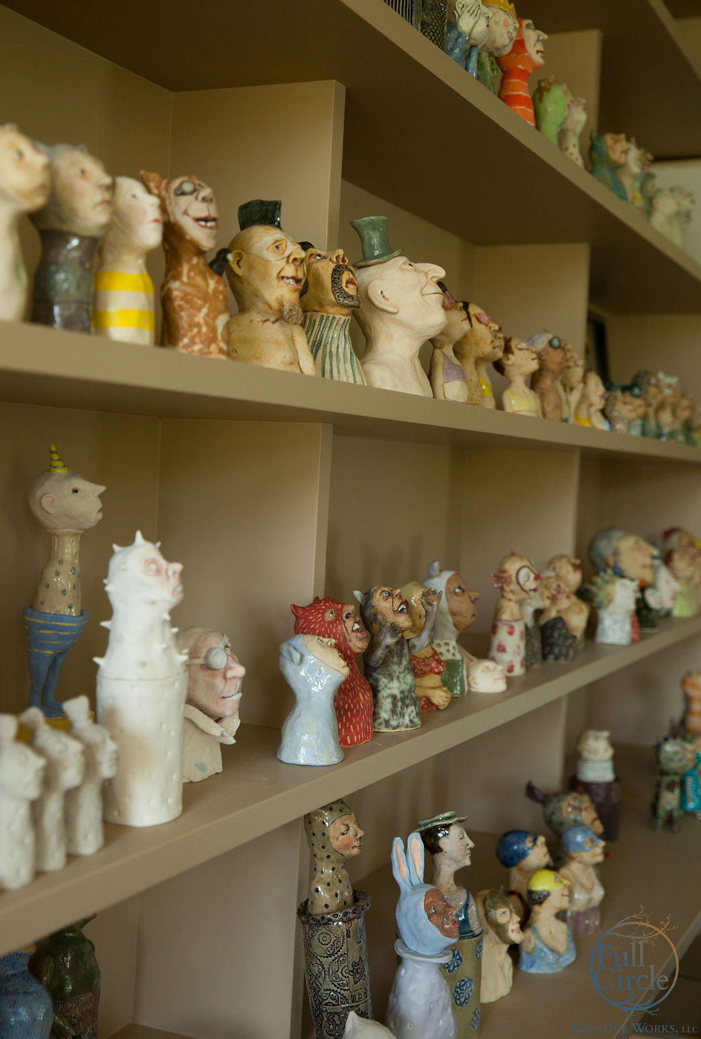 My sculptures in their studio space