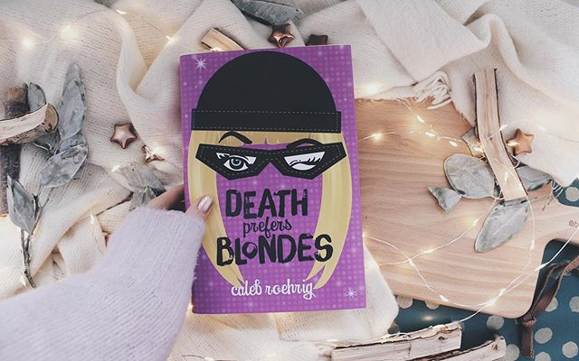 I'm currently at work, what are you doing today? ⋆ ⋆ ⋆ ⋆ Death prefers Blondes by Caleb Roehrig. ⋆ ⋆ ⋆ ⋆  This is a young adult, mystery, lgbt, contemporary book. ⋆ ⋆ ⋆ #booksofinstagram #booklife #bookblog #bookspines #bookstagram #bookphoto #bookhaul #youngadultbook #youngadultbooks