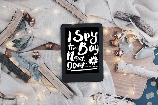 New blog post online of this book. Link is in my bio ⋆ ⋆ ⋆ ⋆  I Spy The Boy Next Door by @samantharmstrong ⋆ ⋆ ⋆ ⋆  New Adult, Romance, Contemporary. ⋆ ⋆ ⋆ ⋆  I received this as a ARC for a honest review.  A big Thank you to @netgalley and @xpressotours