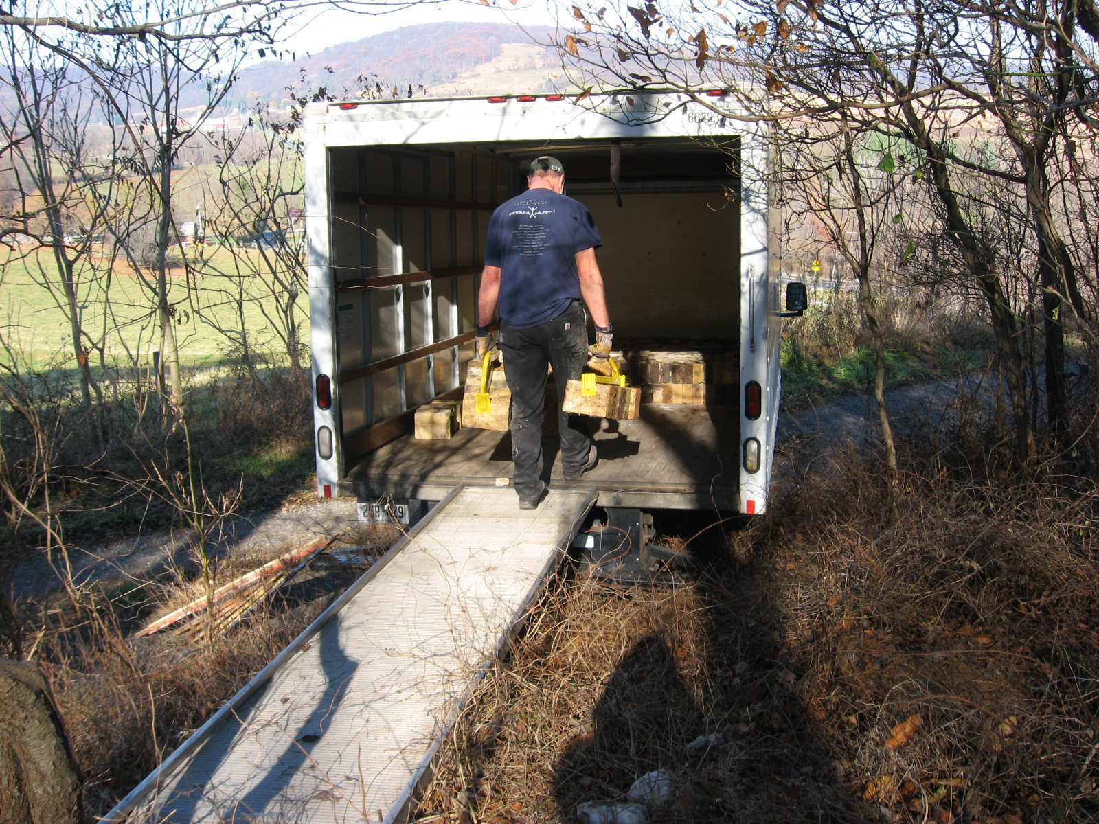 Loading up the rental truck in Maryland.