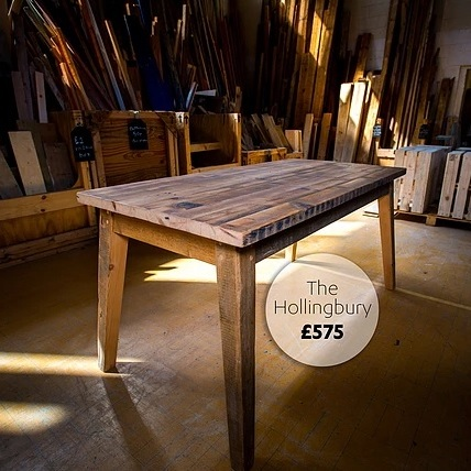 The Hollingbury Reclaimed Table - The Wood Store