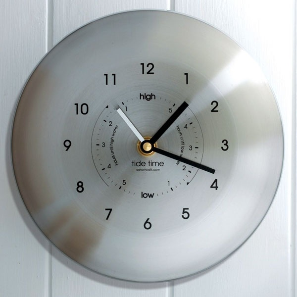 Stainless Steel Time & Tide Clock - riverOcean