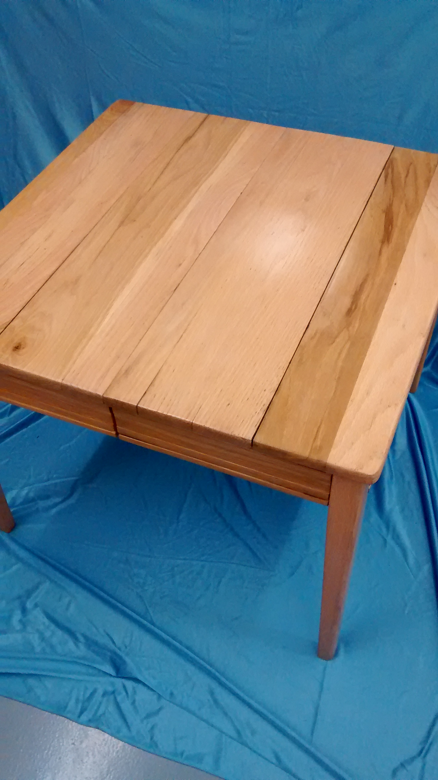 Restored Solid Oak Square Table