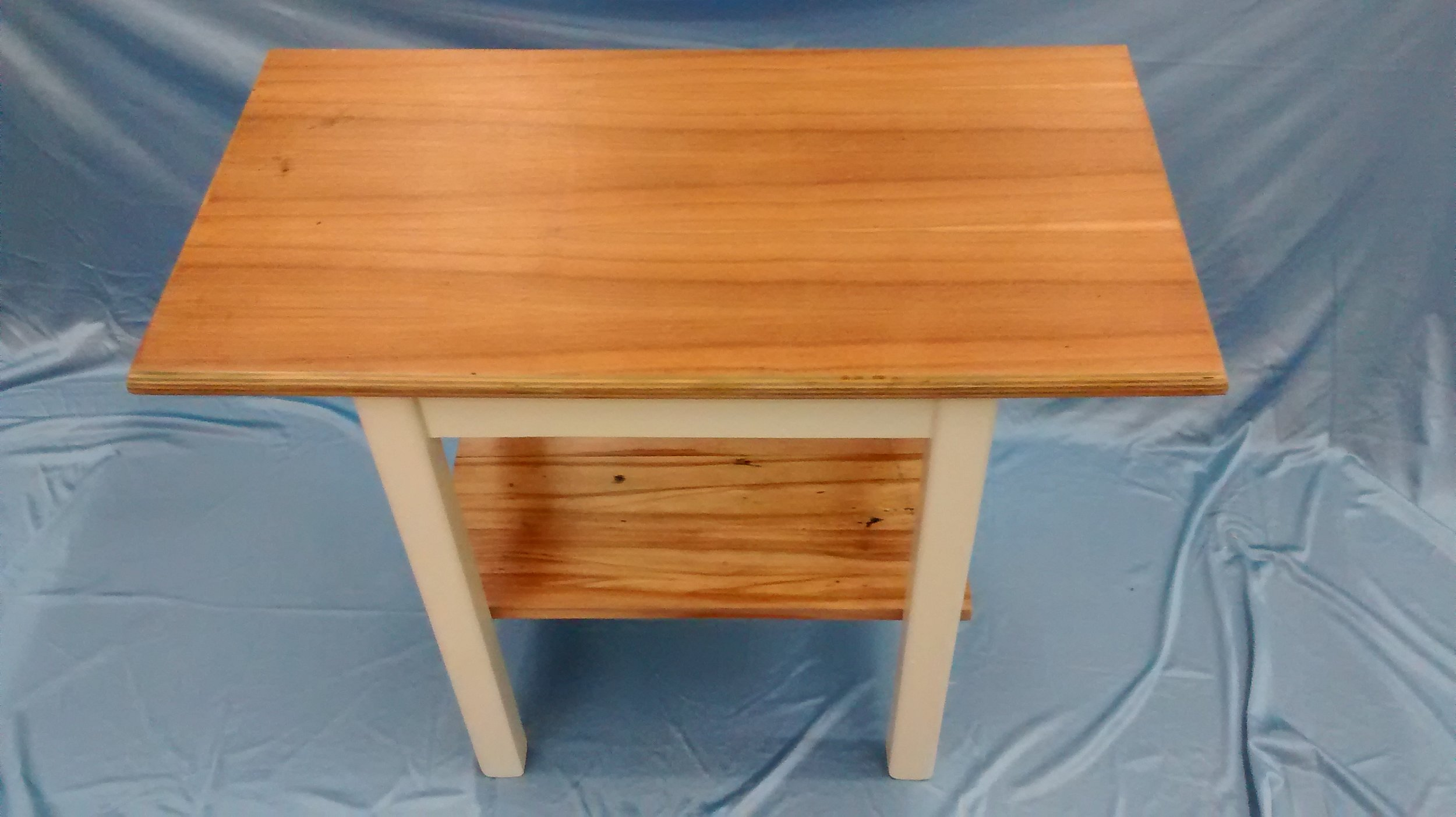 Upcycled End or Side Table with Reclaimed Wood
