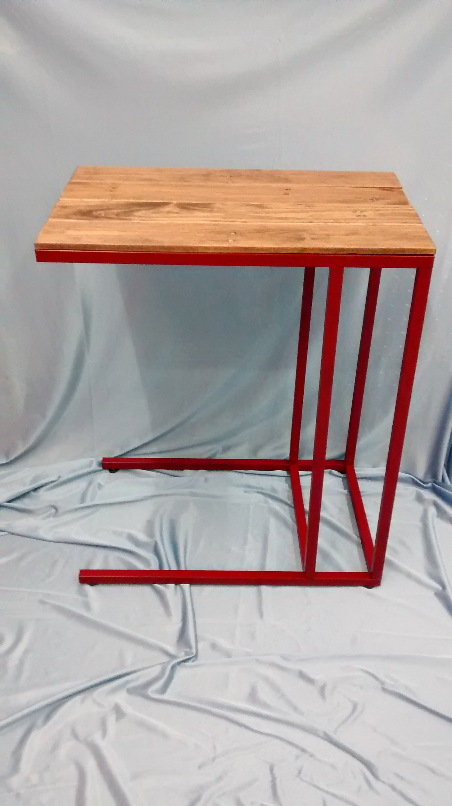 Upgraded Metal End Table with Reclaimed Wood Top