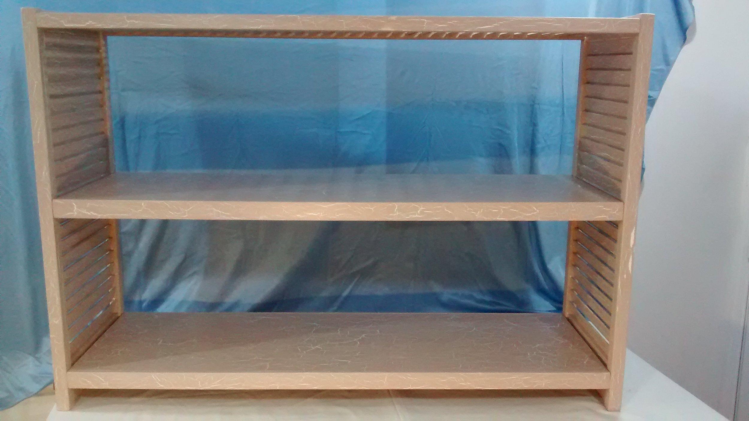 Salvaged Shutter Shelves #1