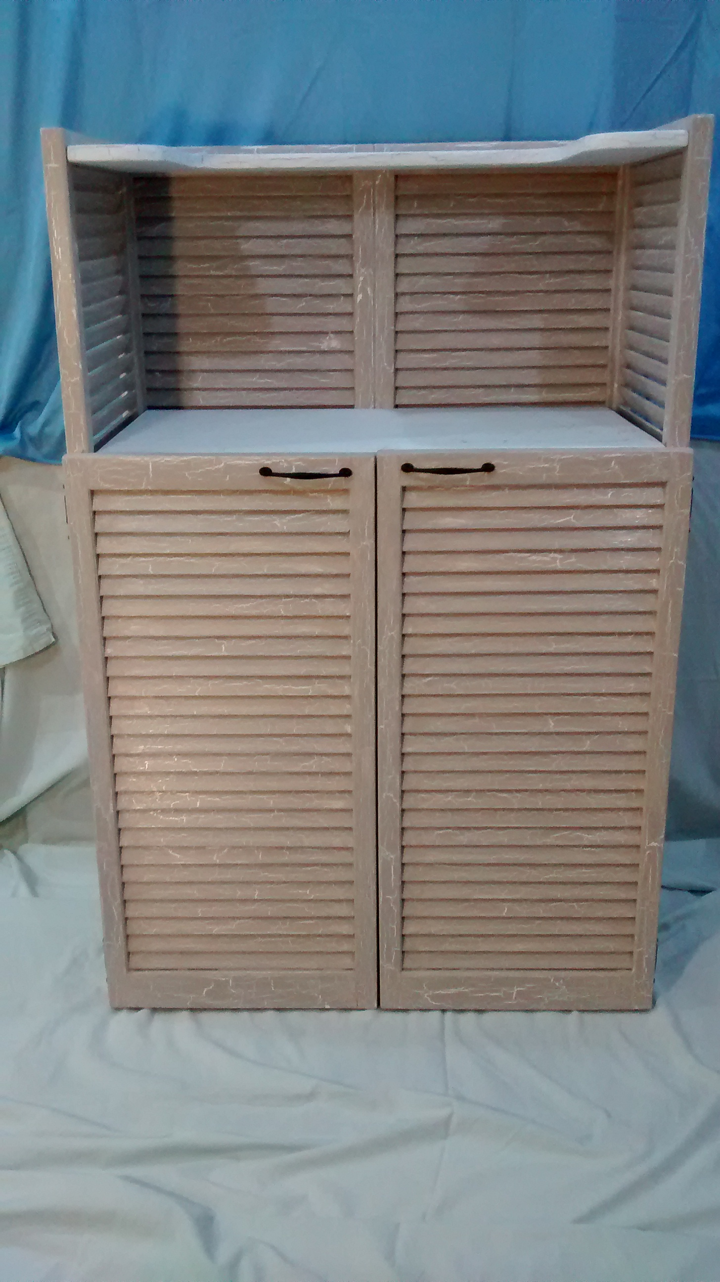 Salvaged Shutter Cabinet with Doors