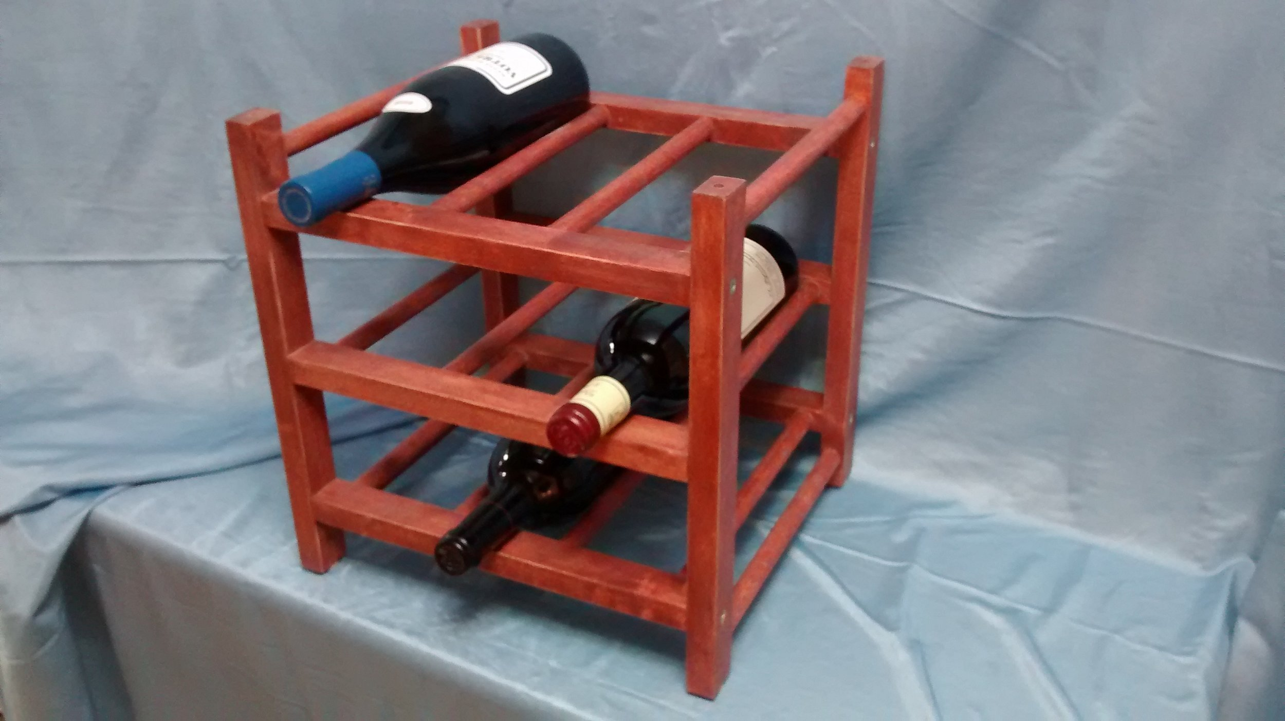 Refinished Wooden Wine Rack #2