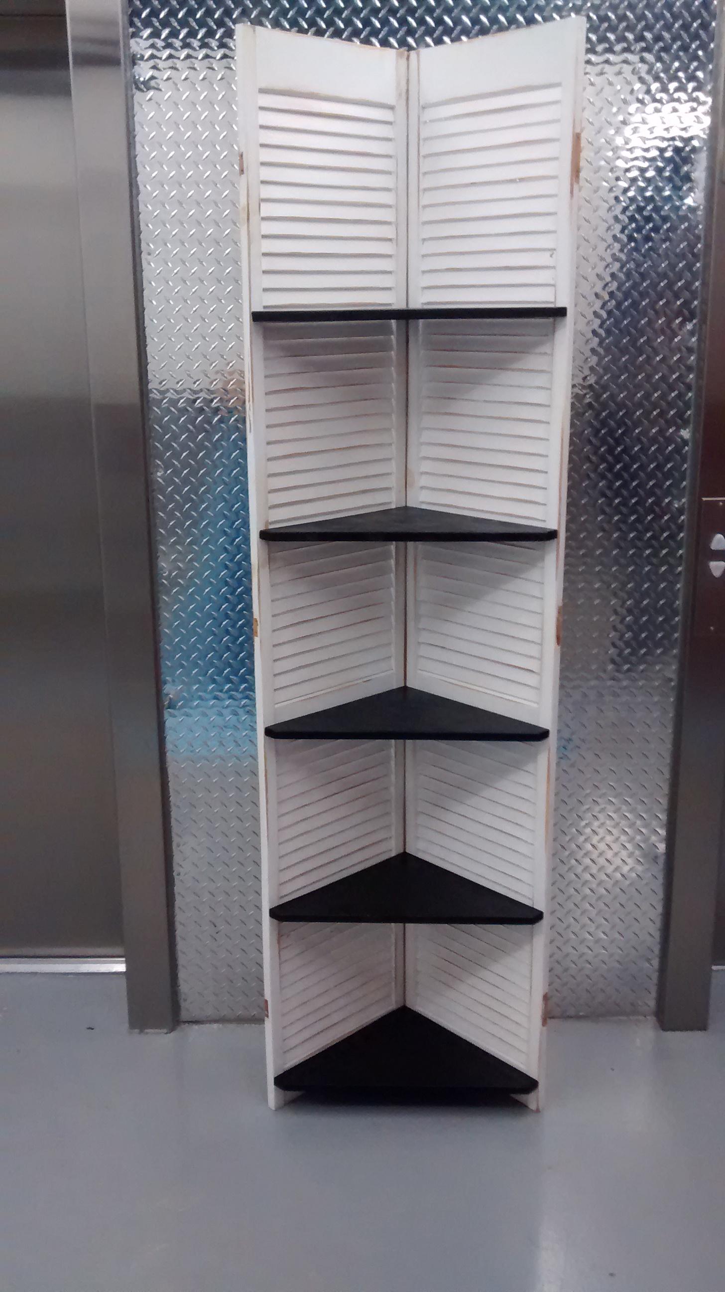 Salvaged Shutter Corner Shelves