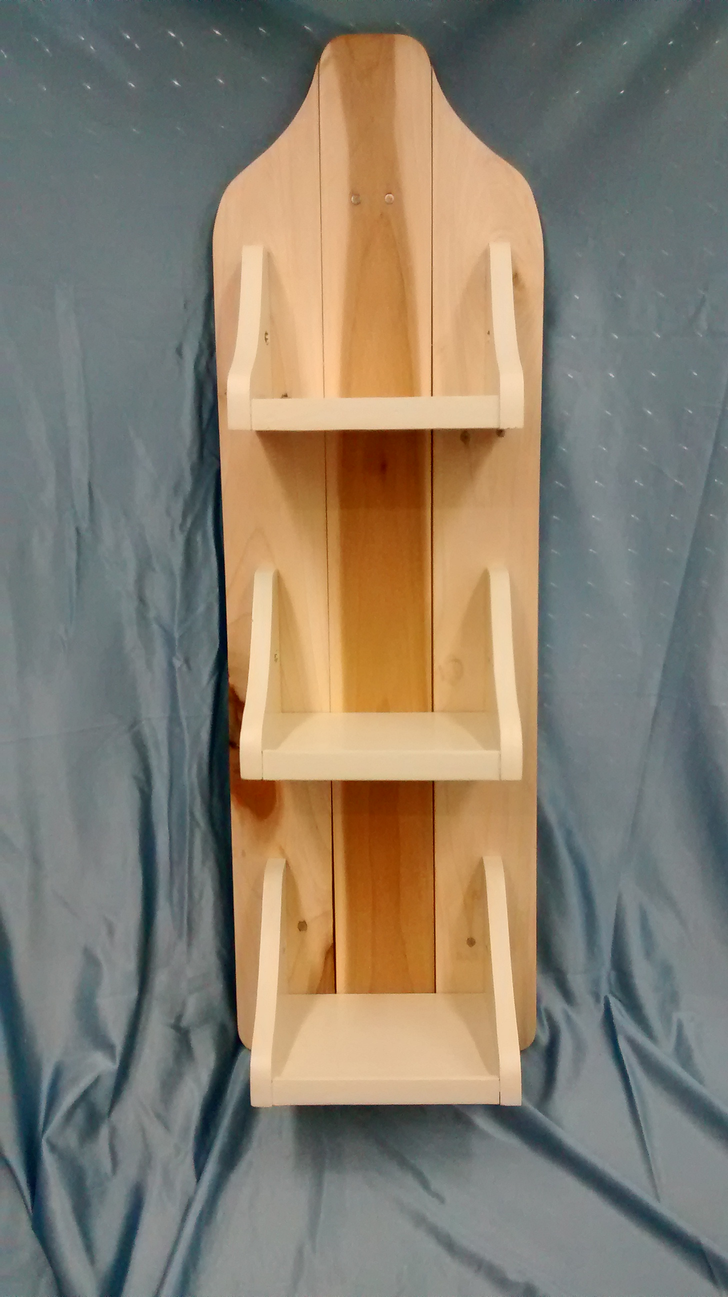 Three Small Shelves on Reclaimed Wood