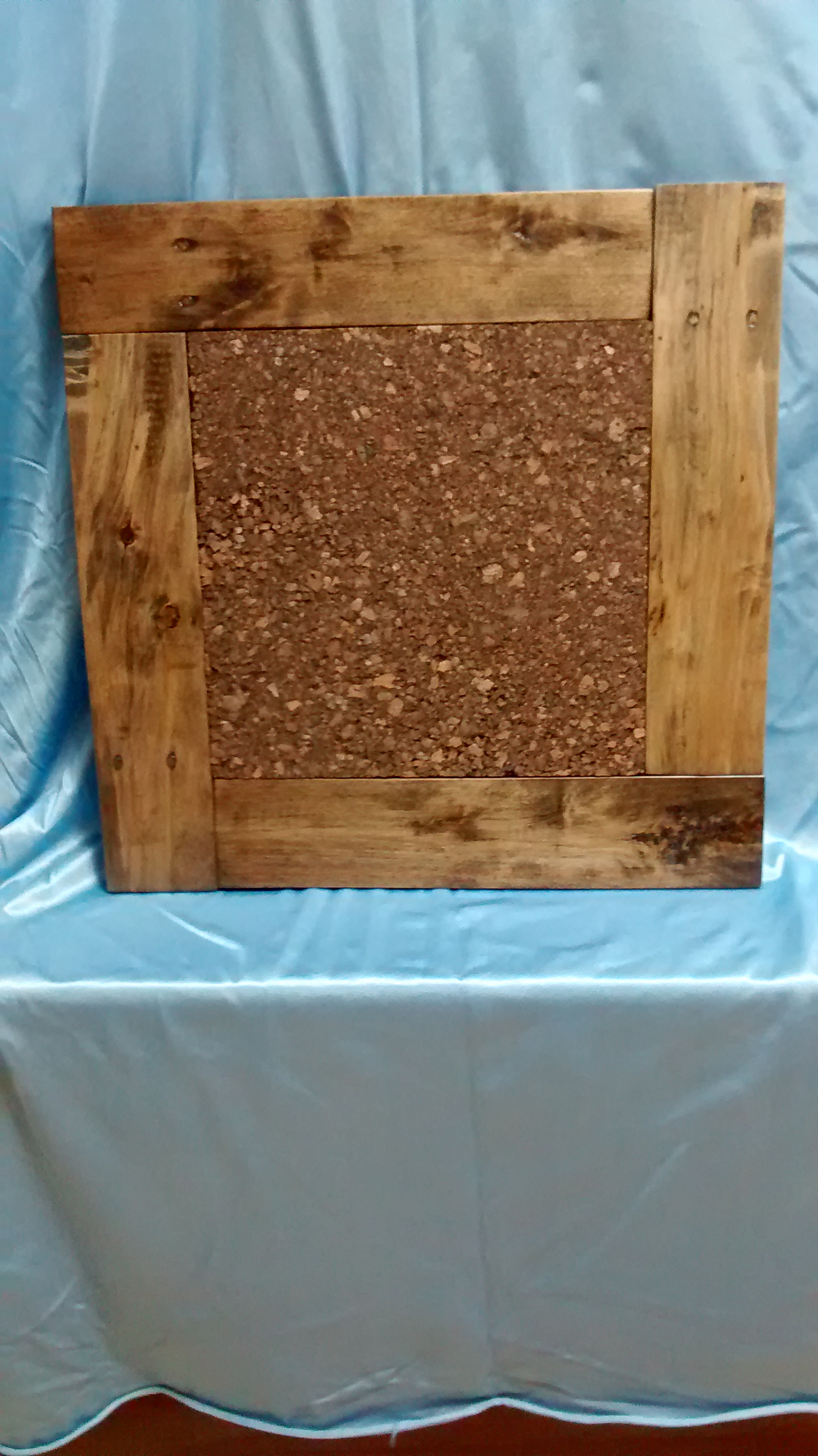 Cork Board with Reclaimed Wood Frame