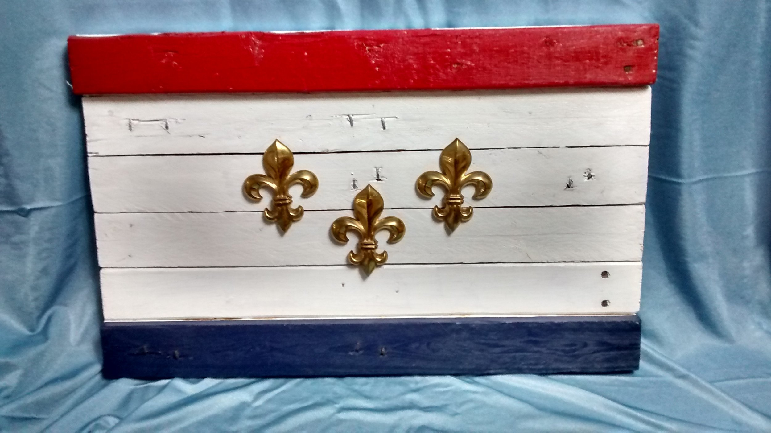 Reclaimed Wood Flag of New Orleans